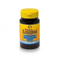 Calcio + Magnesio + Zinc - 475 mg - 50 tab - Nature Essential