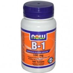 B-1 -100 mg - 100 tab - Now Foods