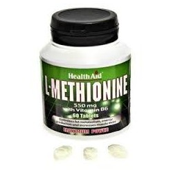 L-Methionine - 550 mg - 60 cap - Health Aid
