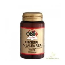 Ginseng y Jalea Real 600 mg - 60 cap - Obire