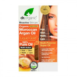 DR. ORGANIC - Aceite Puro de Argan Marroquí 100% Puro (Uñas, Cabello, piel) 50 ml