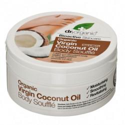 Dr Organic Soufflé Corporal de Aceite de Coco Virgen - 200ml