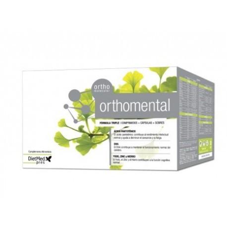 Orthomental - 30 comprimidos + 30 cápsulas + 30 sobres. Dietmed