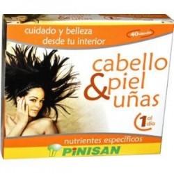 Cabello, piel y uñas - 40 cápsulas - Pinisan