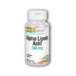 ALPHA LIPOIC ACID 250mg. 60 CAPSULAS -SOLARAY