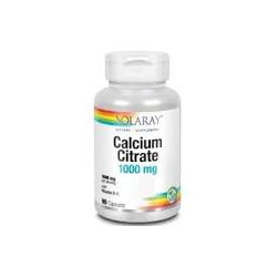 CALCIO citrato 1000mg.-VIT D3 90 CAPSULAS -SOLARAY