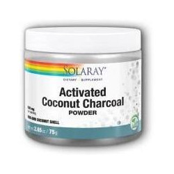 CHARCOAL COCONUT ACTIVATED CARBON ACTIVO  150GR -SOLARAY