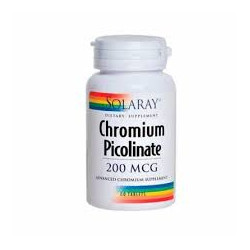 CHROMIUM PICOLINATO 200mcg. 50 COMPRIMIDOS -SOLARAY