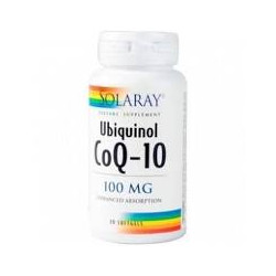 CoQ10 UBIQUINOL 100mg. 30 PERLAS  -SOLARAY