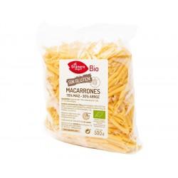Macarrones de Maiz y Arroz sin Gluten Bio, 500 g ( EL GRANERO )