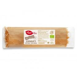 Espaguetis de Maiz y Arroz sin Gluten Bio, 500 g ( EL GRANERO )