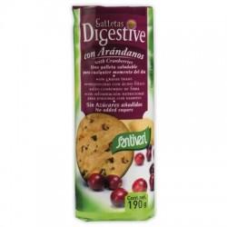 Galletas Digestive con arándanos sin azúcar ( SANTIVERI )