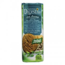 Galletas Digestive con avena sin azúcar ( SANTIVERI )