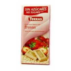 CHOCOLATE  Blanco con fresas ( TORRES )