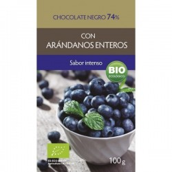 CHOCOLATE NEGRO 74% CON ARANDANOS ENTEROS ( BIOSUIT)